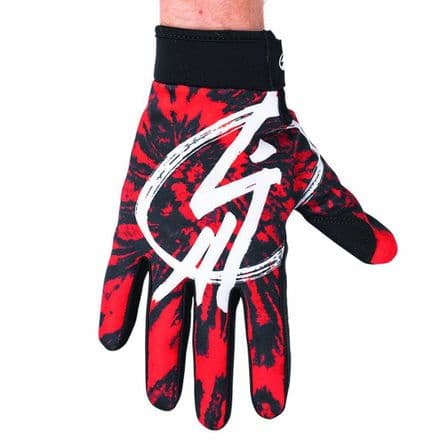 Shadow Conspire Gloves - Red Tie-Dye Small
